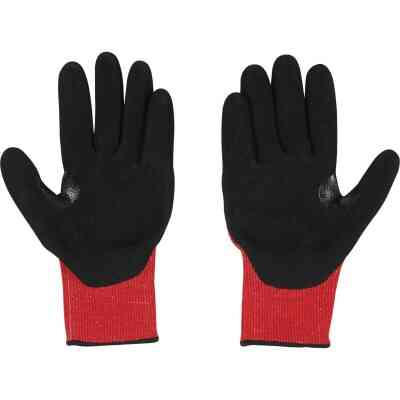 Milwaukee Impact Cut Level 3 Large Men's Nitrile Dipped Work Gloves