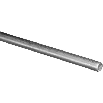 Hillman Steelworks Zinc-Plated 7/16 In. X 3 Ft. Solid Rod