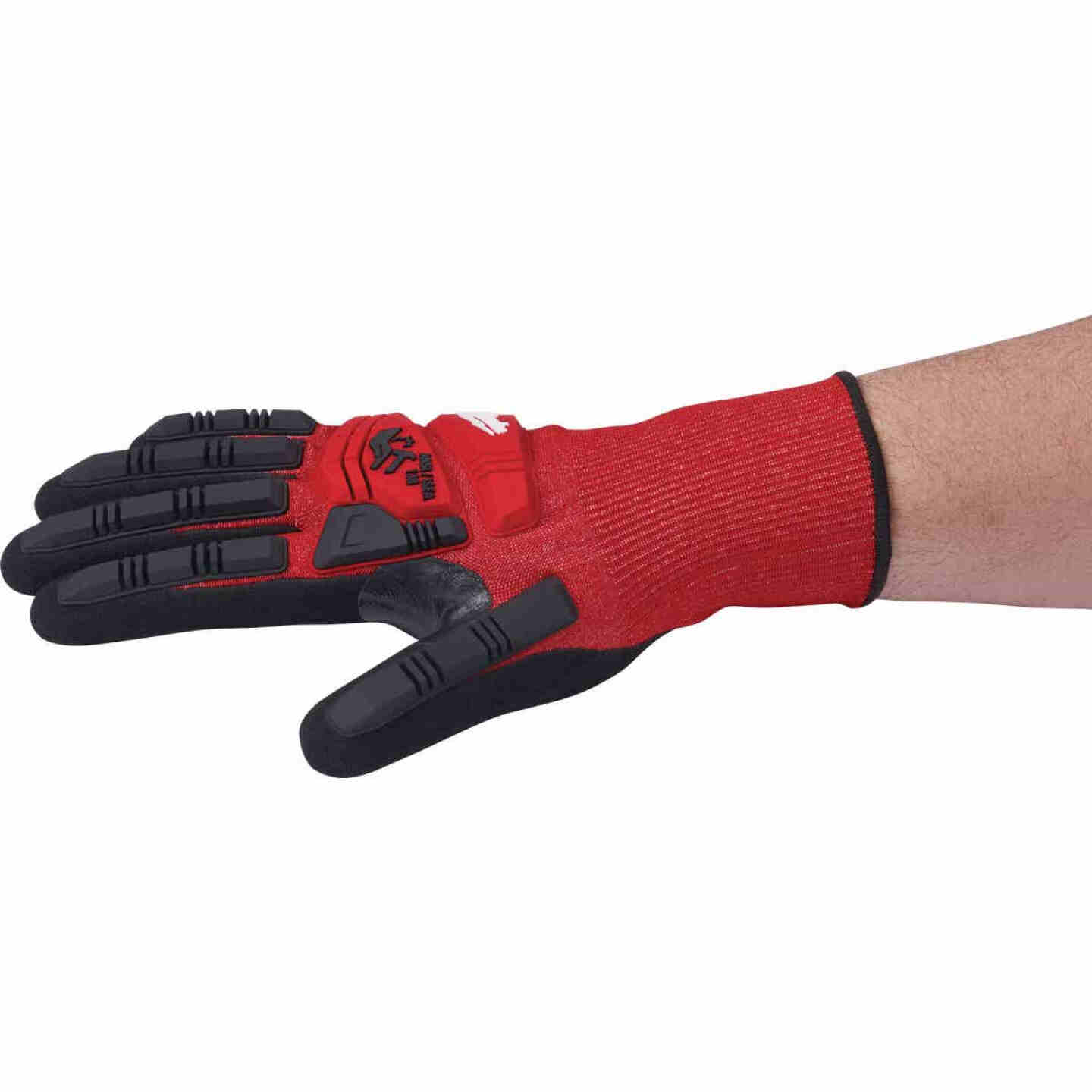 Milwaukee Impact Cut Level 3 XL Men's Nitrile Dipped Work Gloves Image 4