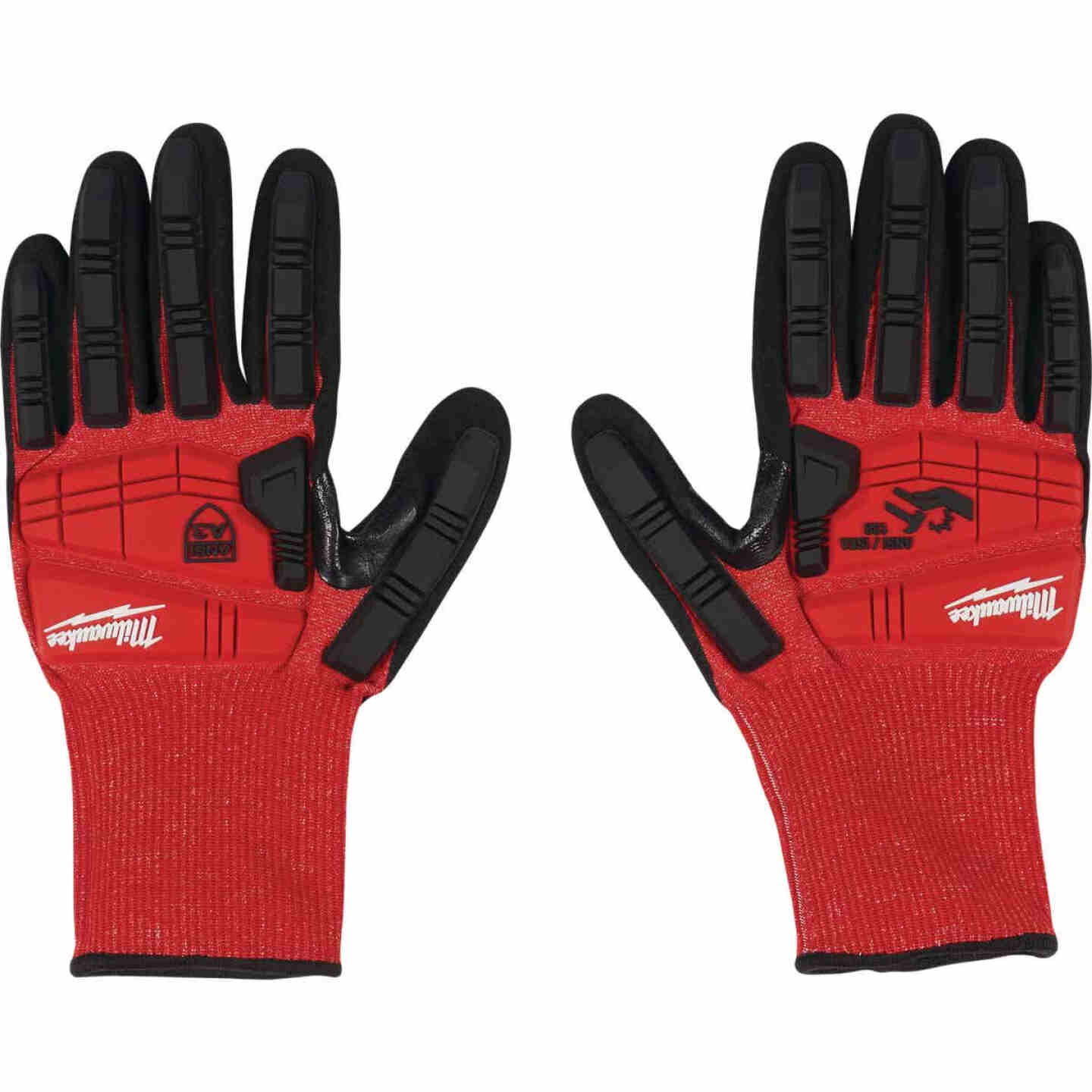 Milwaukee Impact Cut Level 3 XL Men's Nitrile Dipped Work Gloves Image 2