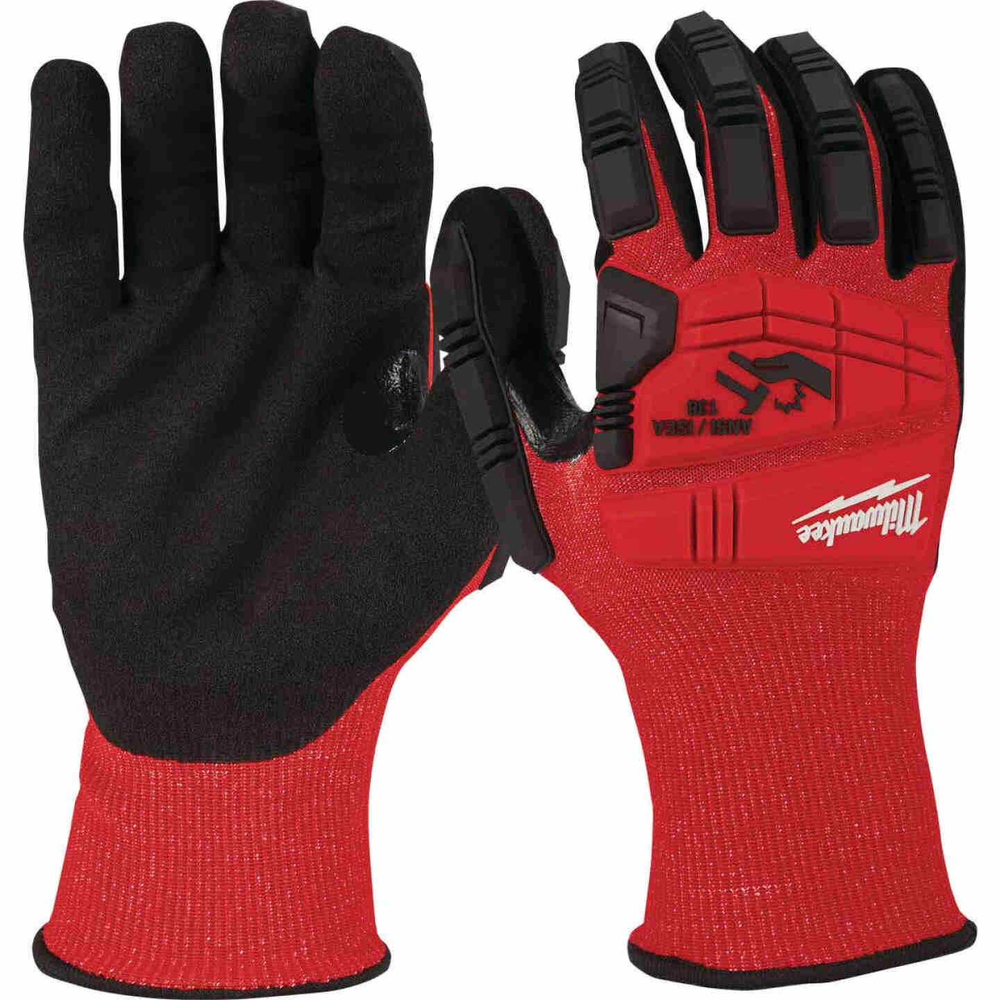 Milwaukee Impact Cut Level 3 XL Men's Nitrile Dipped Work Gloves Image 3