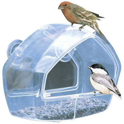 Birdscapes Clear Plastic Window Bird Feeder