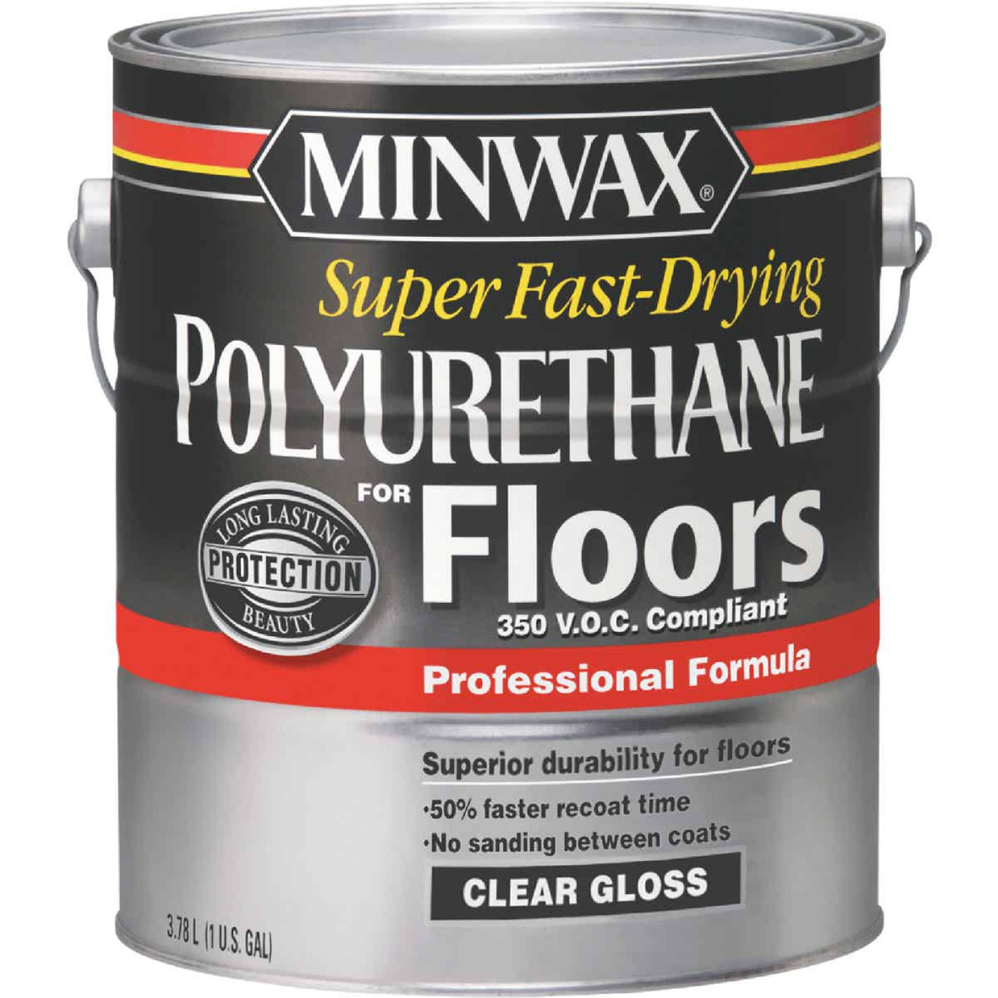Minwax 1 Gallon Gloss VOC Fast Drying Polyurethane For Floor Image 1