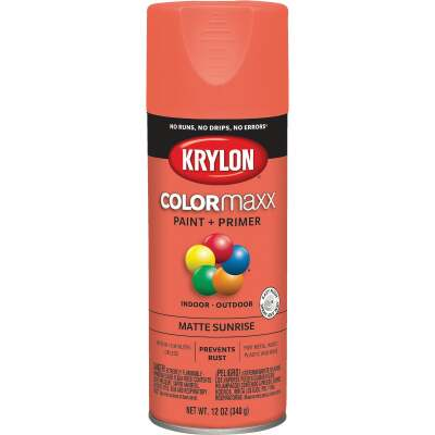 Krylon ColorMaxx 12 Oz. Matte Paint + Primer Spray Paint, Sunrise