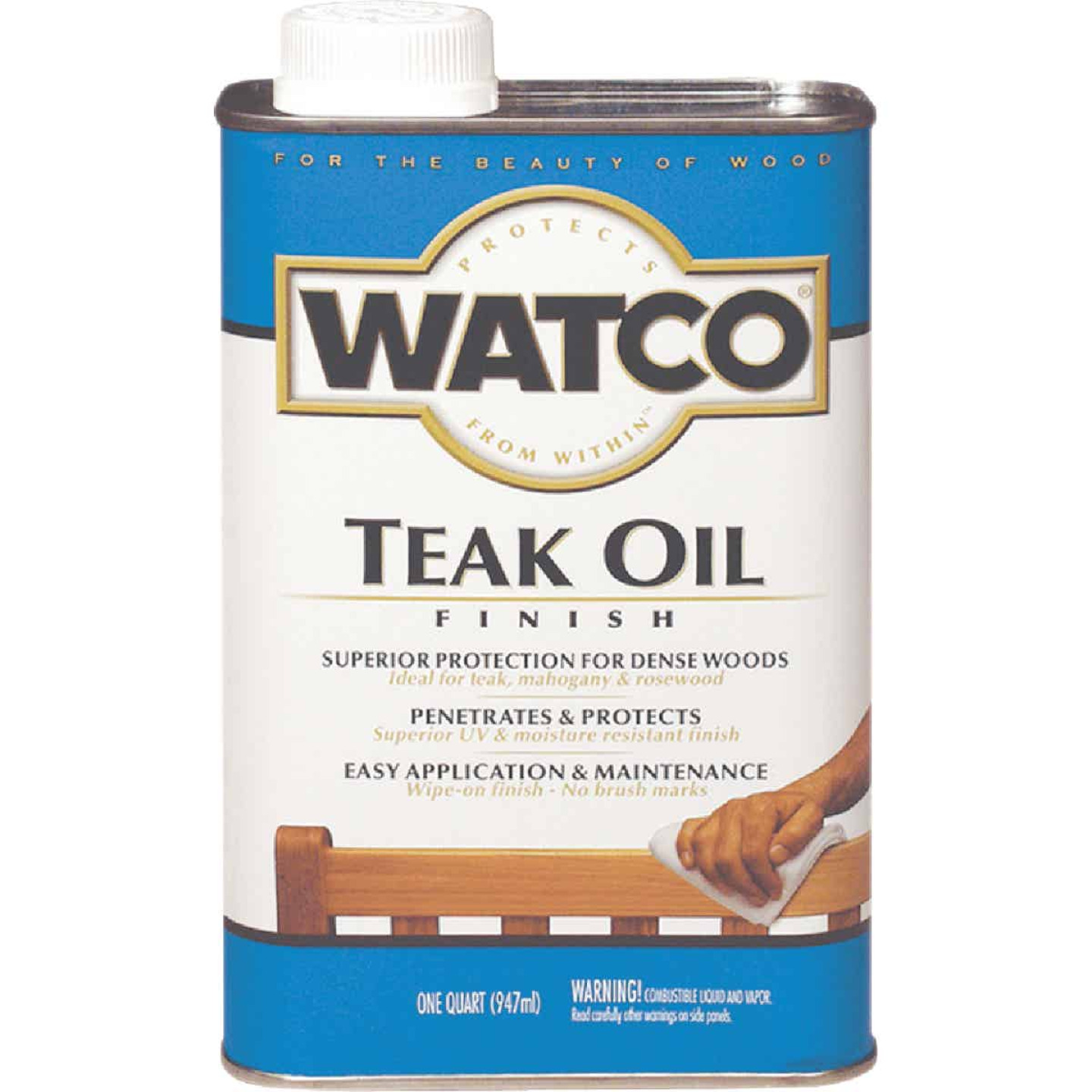Watco 1 Qt. Low VOC Teak Oil Finish Image 1
