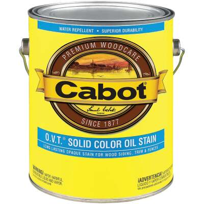 Cabot O.V.T. VOC Compliant Solid Color Exterior Stain, Medium Base, 1 Gal.