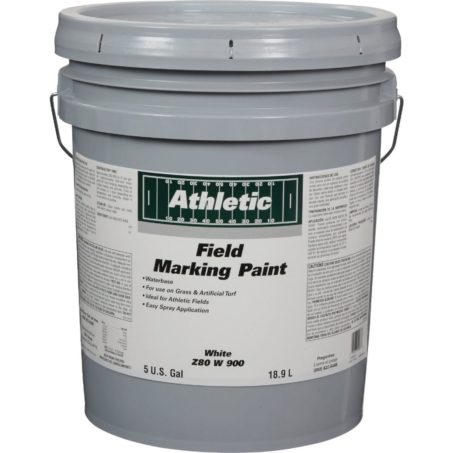 Field Marking Paint White 5 Gal Acrylic Flat Field Marking Paint Image 1
