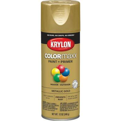 Krylon ColorMaxx 11 Oz. Metallic Gloss Spray Paint, Gold