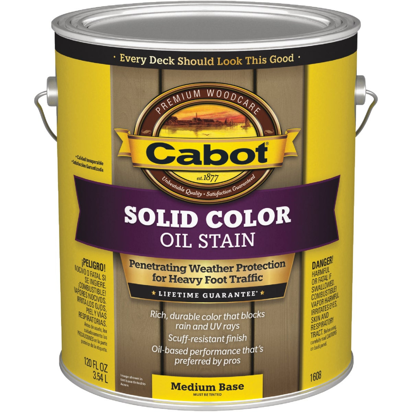 Cabot Solid Color Oil Deck Stain, Medium Base, 1 Gal. Image 1