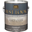 Best Look 1 Gal. White/Pastel Base Heavy-Duty Acrylic Latex Gloss Porch & Floor Enamel Image 1