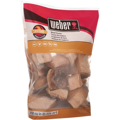 Weber FireSpice 350 Cu. In. Pecan Smoking Chunks