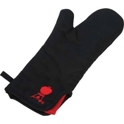 Weber 15.5 In. Black Cotton Barbeque Mitt