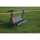 Outdoor Expressions 3-Person 71.65 In. W. x 66.93 In. H. x 49.21 In. D. Gray Patio Swing Image 3