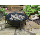 Outdoor Expressions 30 In. Antique Bronze Deep Bowl Steel Fire Pit Image 2