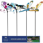 Alpine 36 In. Metal & Glass Assorted Insect Garden Stake Lawn Ornament Image 3