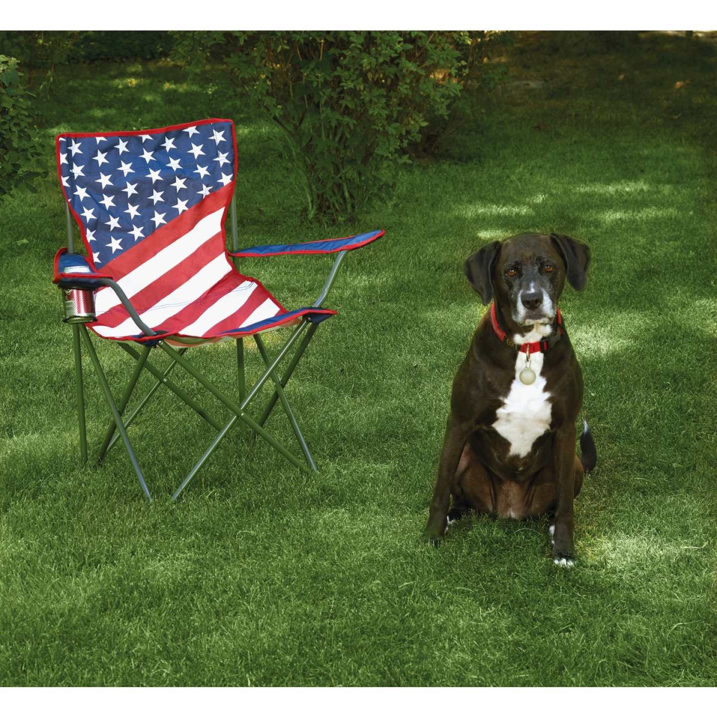 Outdoor Expressions Americana Folding Camp Chair Image 2