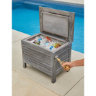 Leigh Country 56 Qt. Acacia Wood Cooler, Gray Image 2