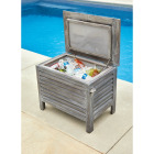 Leigh Country 56 Qt. Acacia Wood Cooler, Gray Image 3