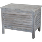 Leigh Country 56 Qt. Acacia Wood Cooler, Gray Image 1