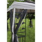 Outdoor Expressions 10 Ft. x 10 Ft. Gray & Black Steel Gazebo with Sides Image 8