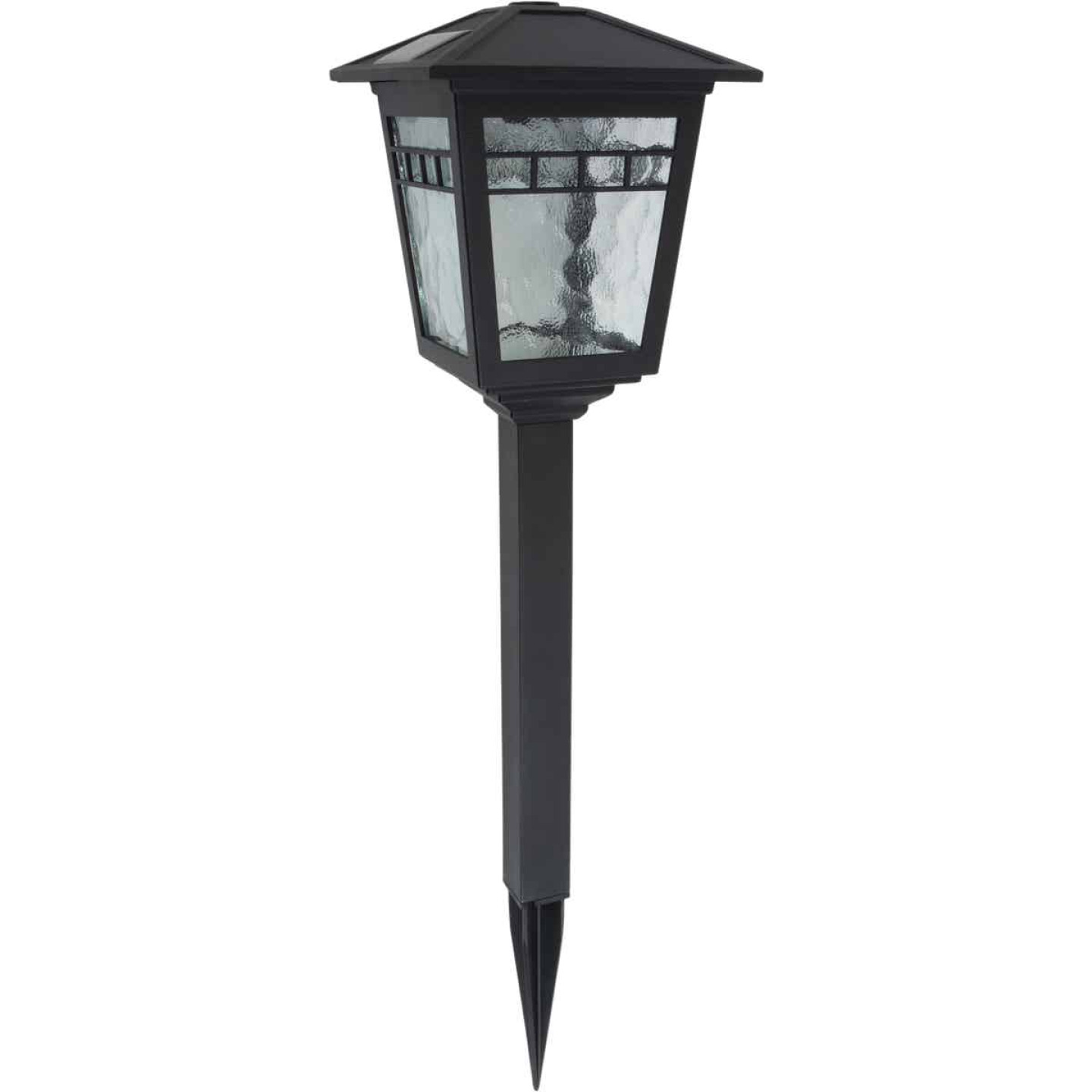 Fusion Black 10 Lumens Plastic Coach Solar Path Light Image 1