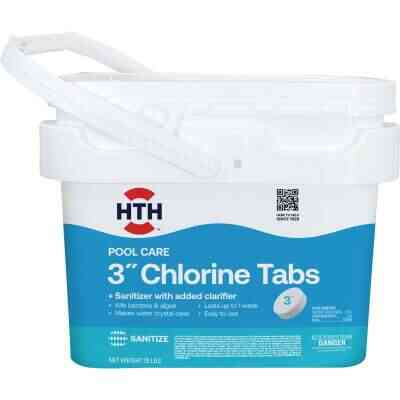 HTH 3 In. 25 Lb. Dual Action Chlorine Tablet