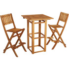 Outdoor Expressions 3-Piece Bar Height Bistro Set Image 1