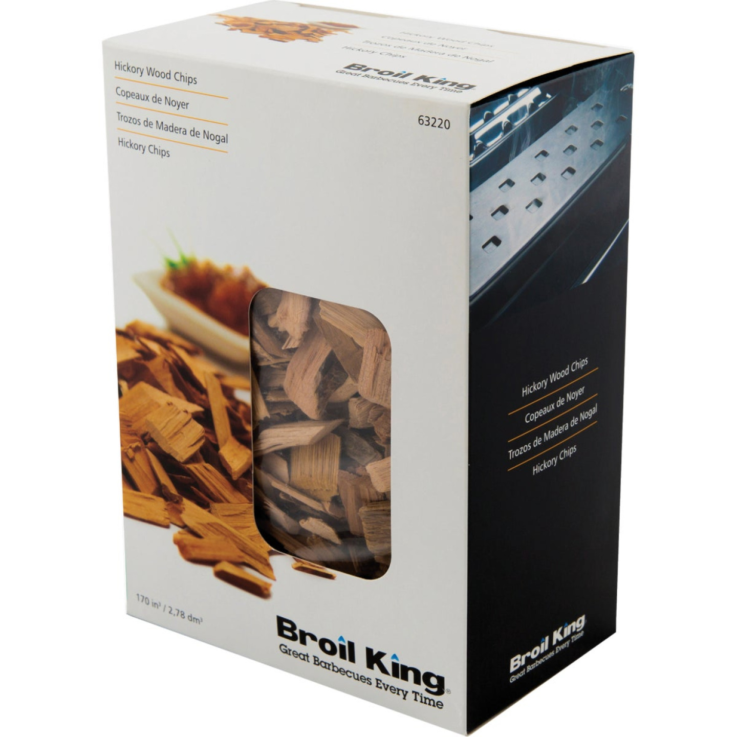 Broil King 170 Cu. In. Hickory Wood Smoking Chips Image 1