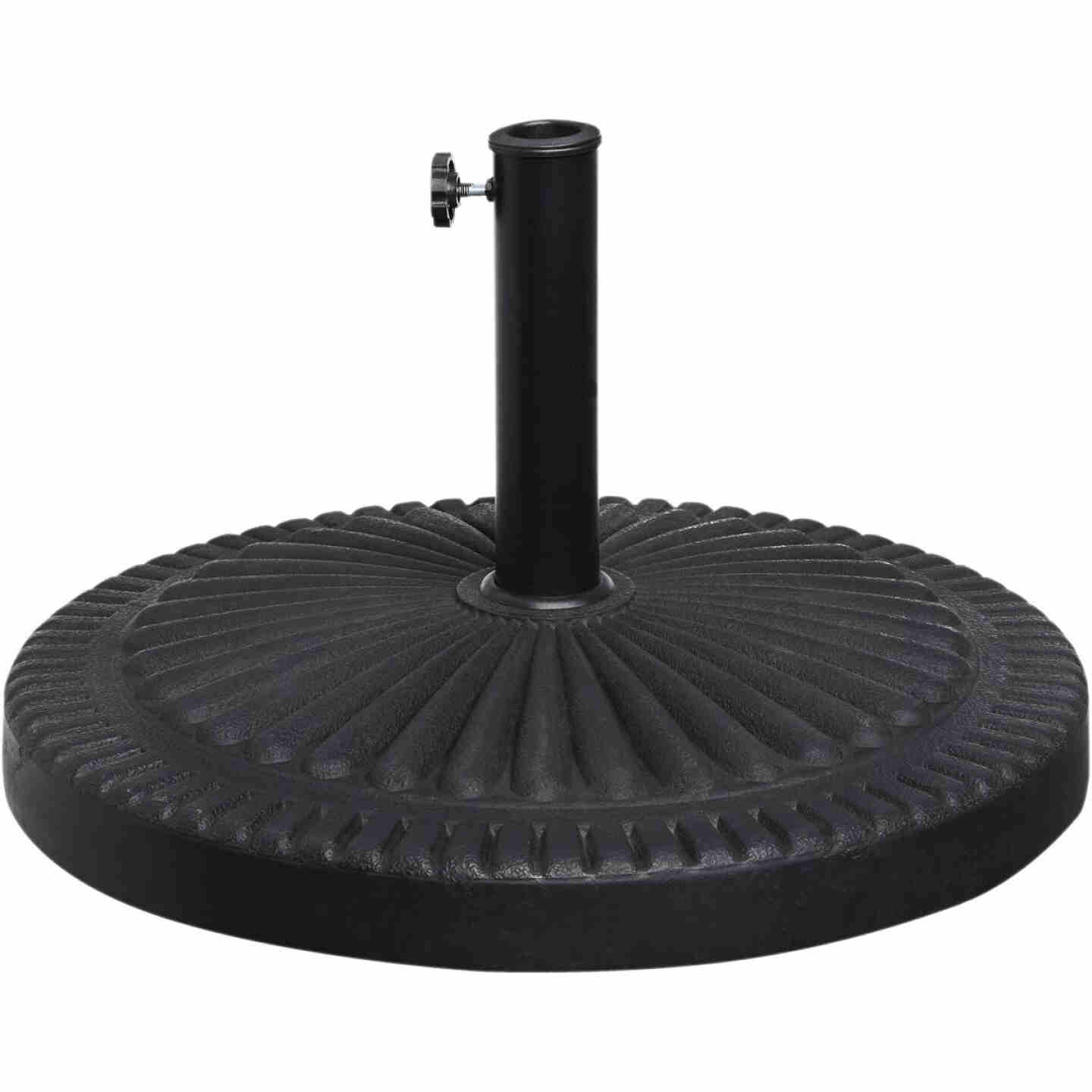 Outdoor Expressions 24 In. Round Black Polyresin Umbrella Base Image 1