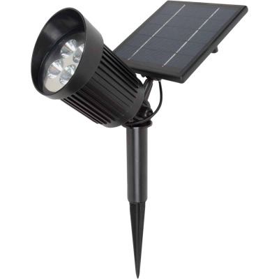 Fusion Black 8 SMD LED Up to 8-Hour Run Time Solar Spotlight