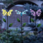 Alpine Metal 33 In. H. Insect with Hydrangea Wings Solar Stake Light Image 2