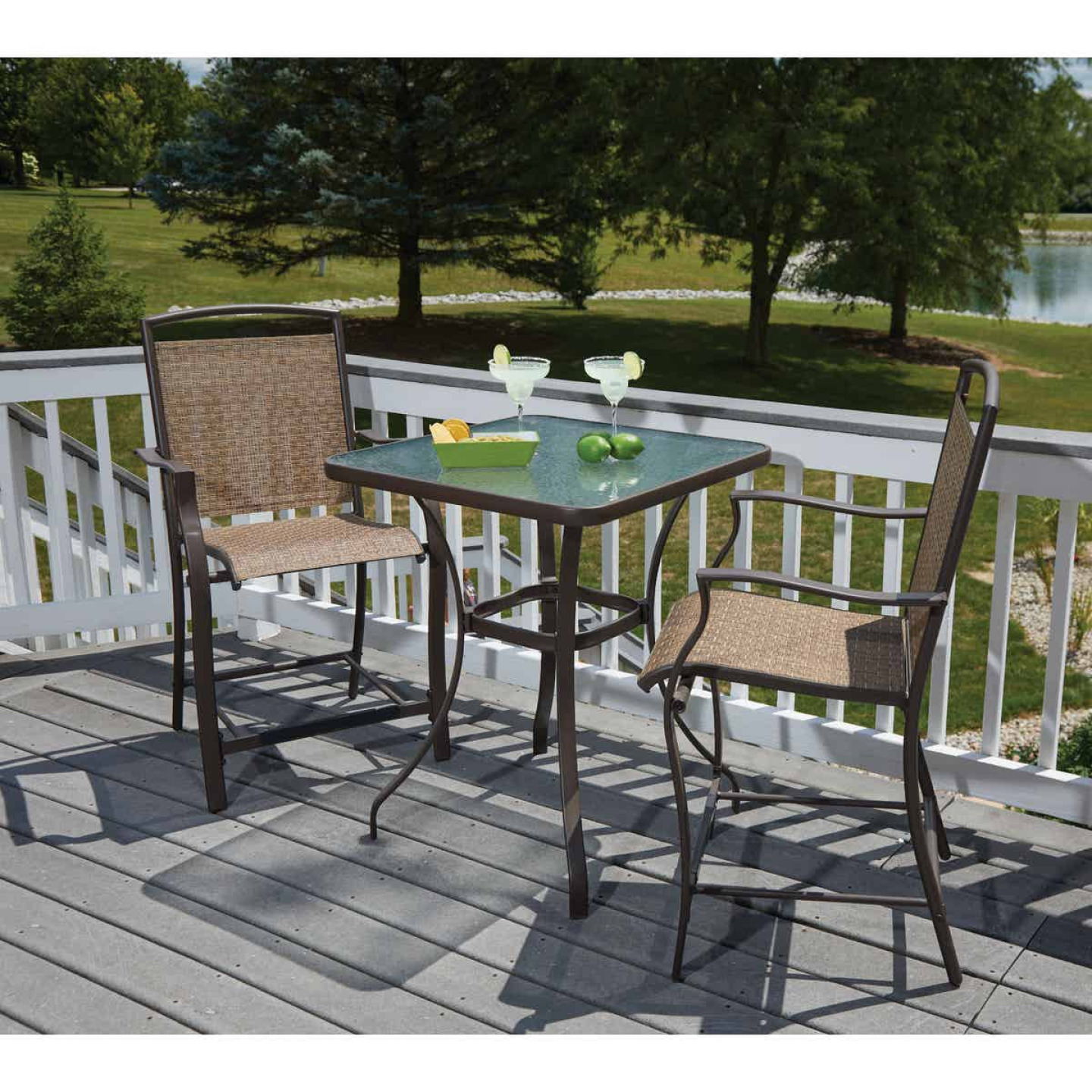 Outdoor Expressions 3-Piece Balcony Bistro Set Image 3