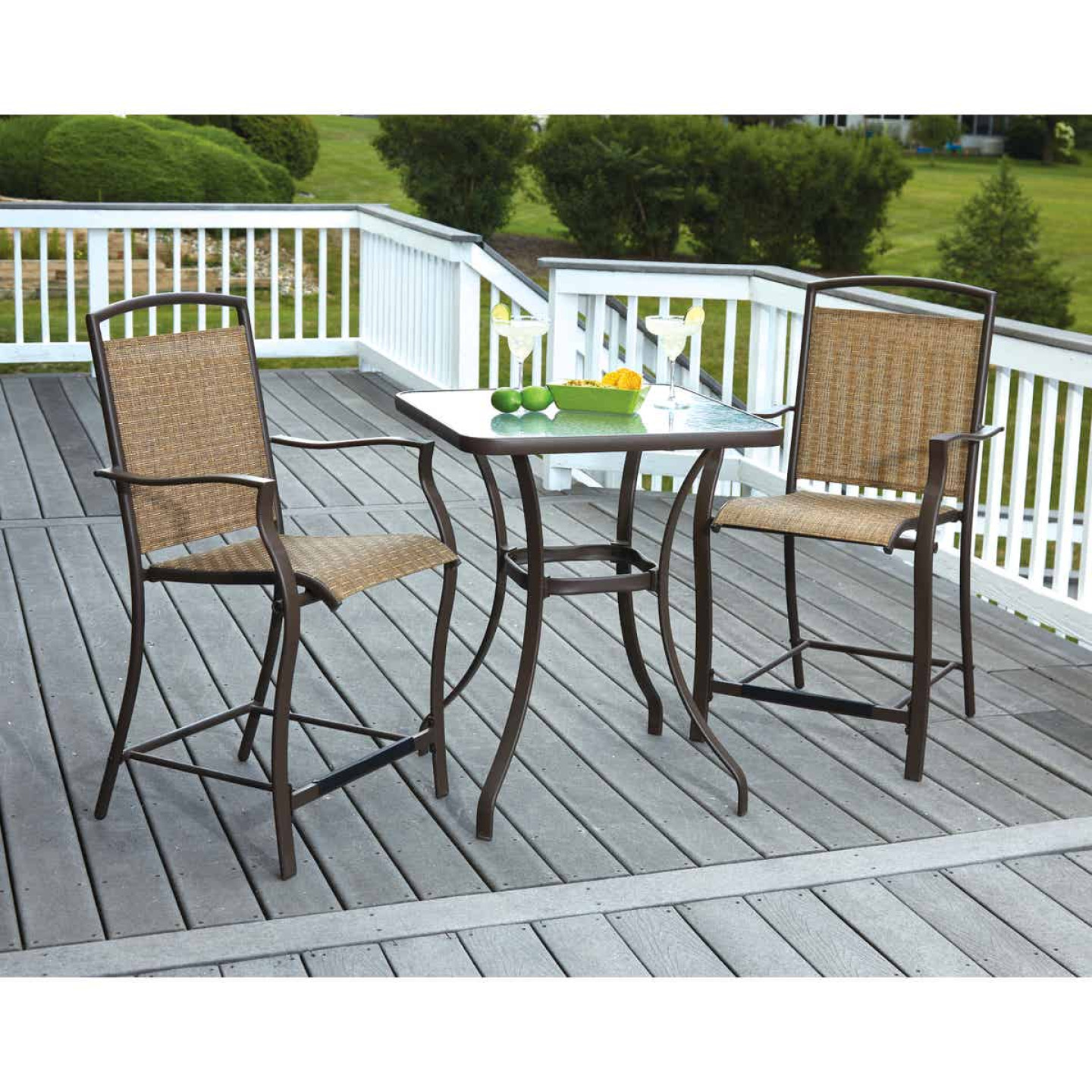 Outdoor Expressions 3-Piece Balcony Bistro Set Image 2