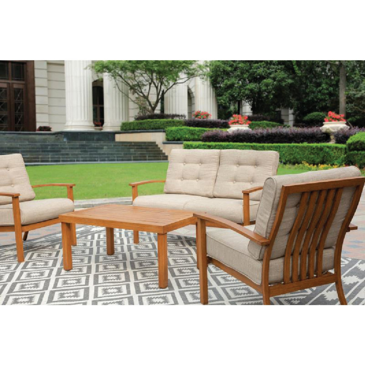 Leisure Classics Beaufort 4-Piece Chat Set Image 3