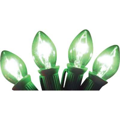 J Hofert C7 Green Transparent 125V Replacement Light Bulb (4-Pack)